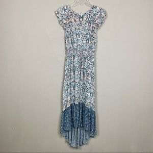 Lucky Brand Size Med Felice Floral High-Low Dress
